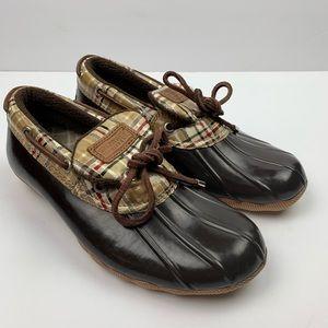 Sperry Top-Sider Waterproof Duck Shoes Brown Plaid